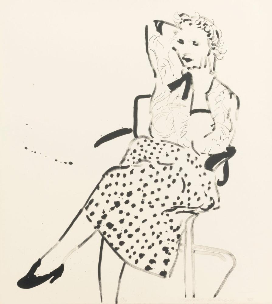 David Hockney, Polka İçinde Celia, Figür, David Hockney