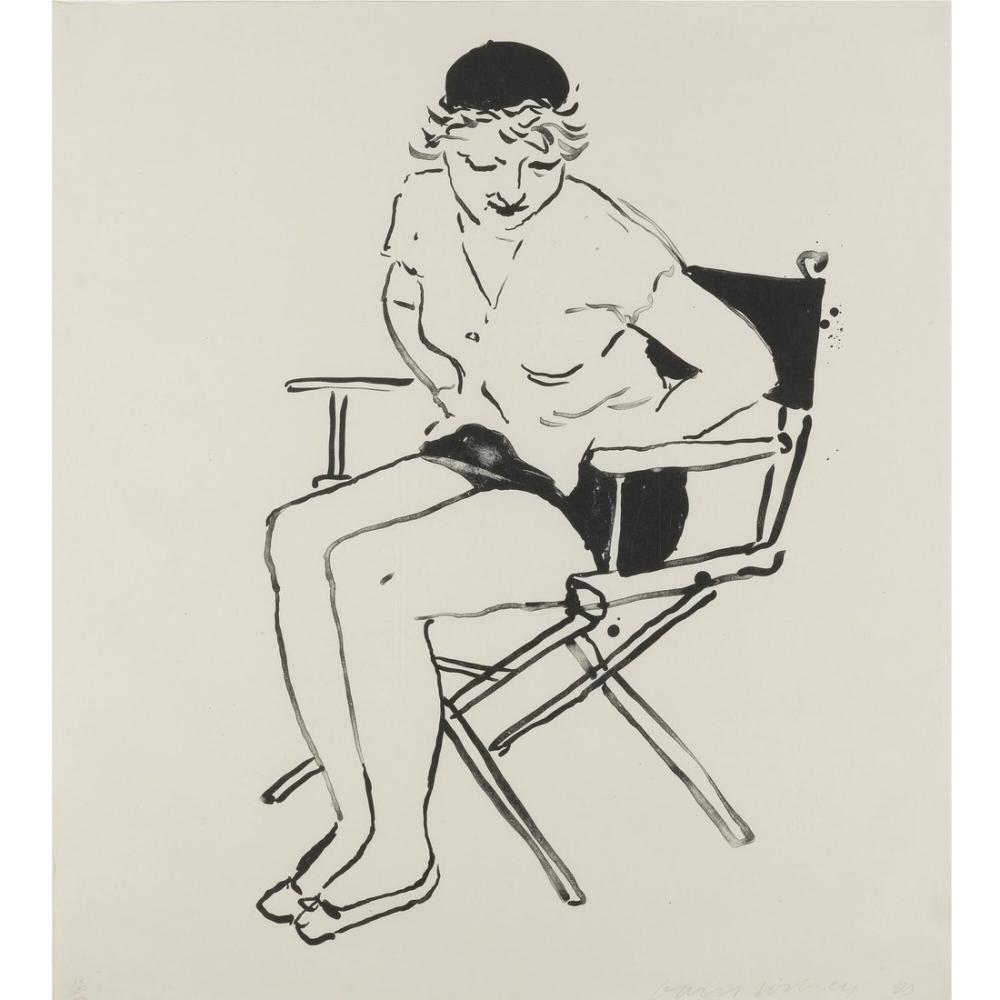 David Hockney, Celia Yönetmen Koltuğunda, Figür, David Hockney