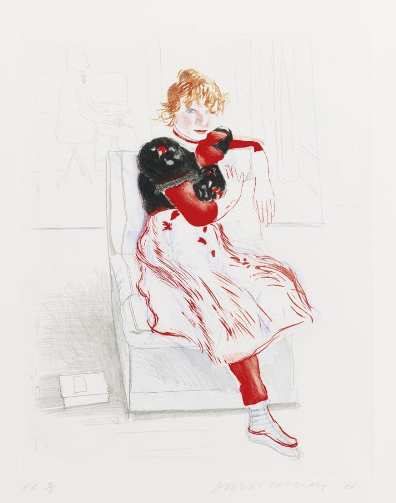 David Hockney, Celia Gözlemliyor, Figür, David Hockney, kanvas tablo, canvas print sales