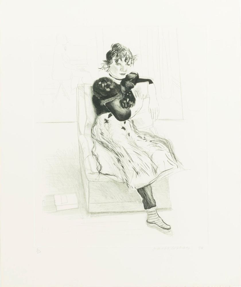 David Hockney, Celia Gözlemliyor 2, Figür, David Hockney