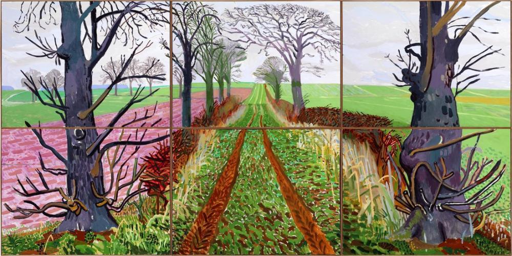 David Hockney, Daha Yakın Bir Kış Tüneli, Şubat Mart, Kanvas Tablo, David Hockney