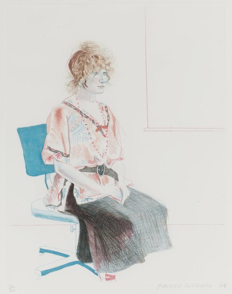 David Hockney, Celia Bir Ofis Koltuğunda Oturuyor, Figür, David Hockney