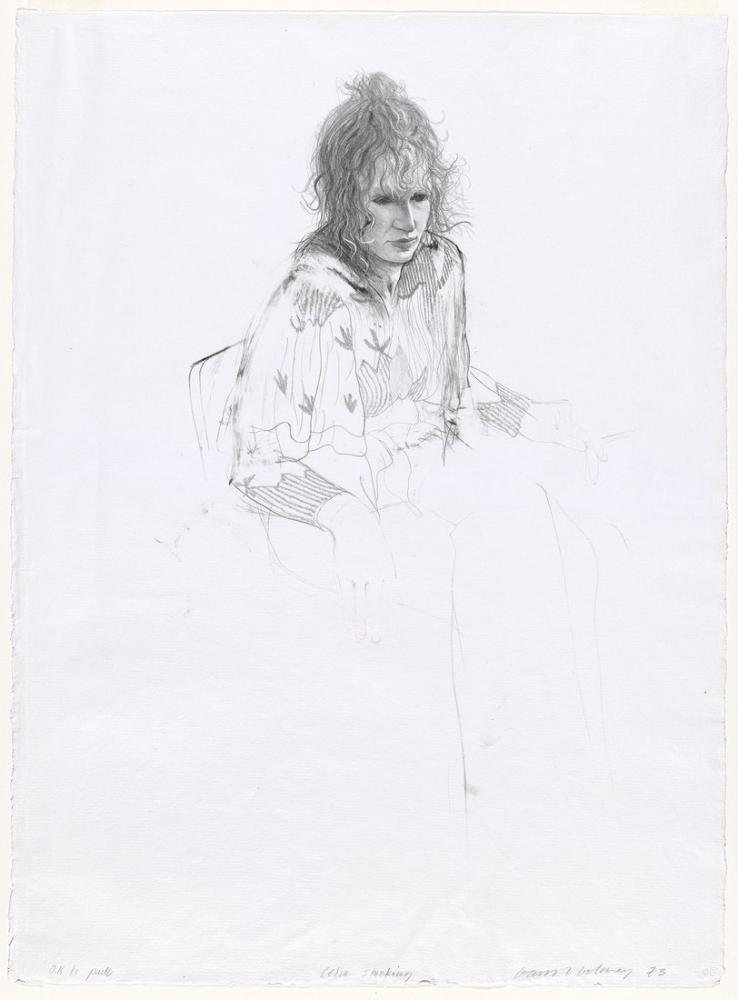 David Hockney, Celia Sigara İçiyor, Figür, David Hockney