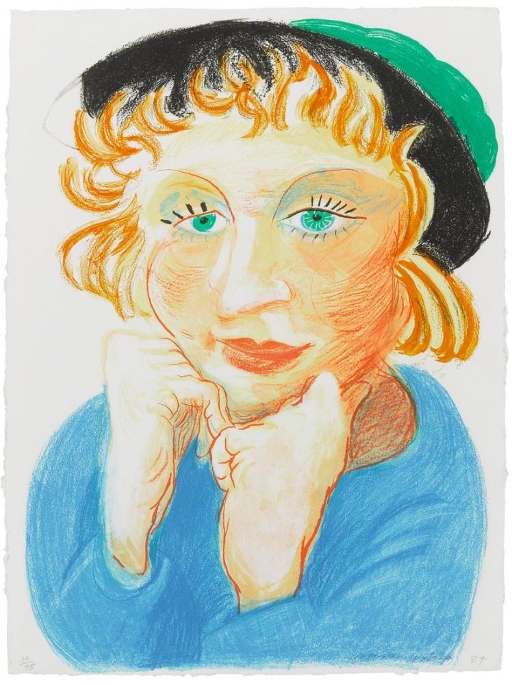 David Hockney, Yeşil Şapkalı Celia, Figür, David Hockney