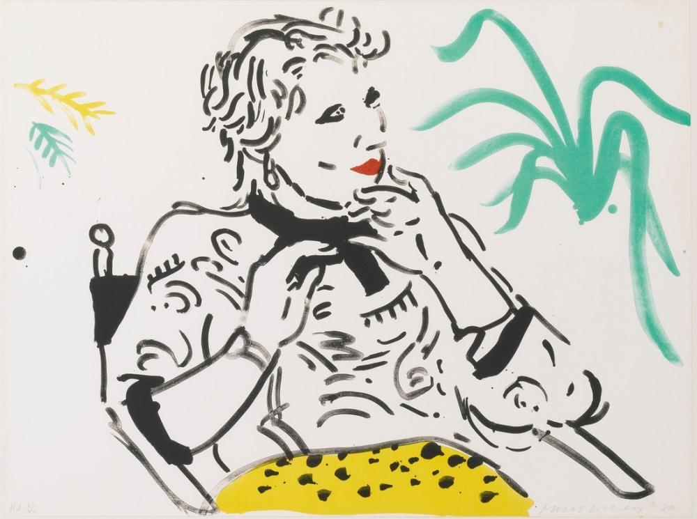David Hockney, Yeşil Bitki ile Celia, Figür, David Hockney
