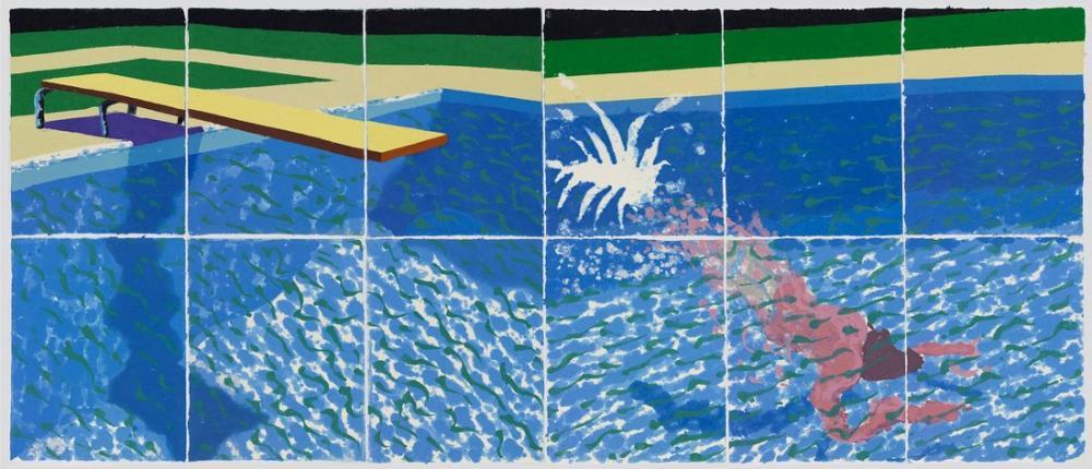 David Hockney, A Diver, Paper Pool 17 1978, Figure, David Hockney, kanvas tablo, canvas print sales