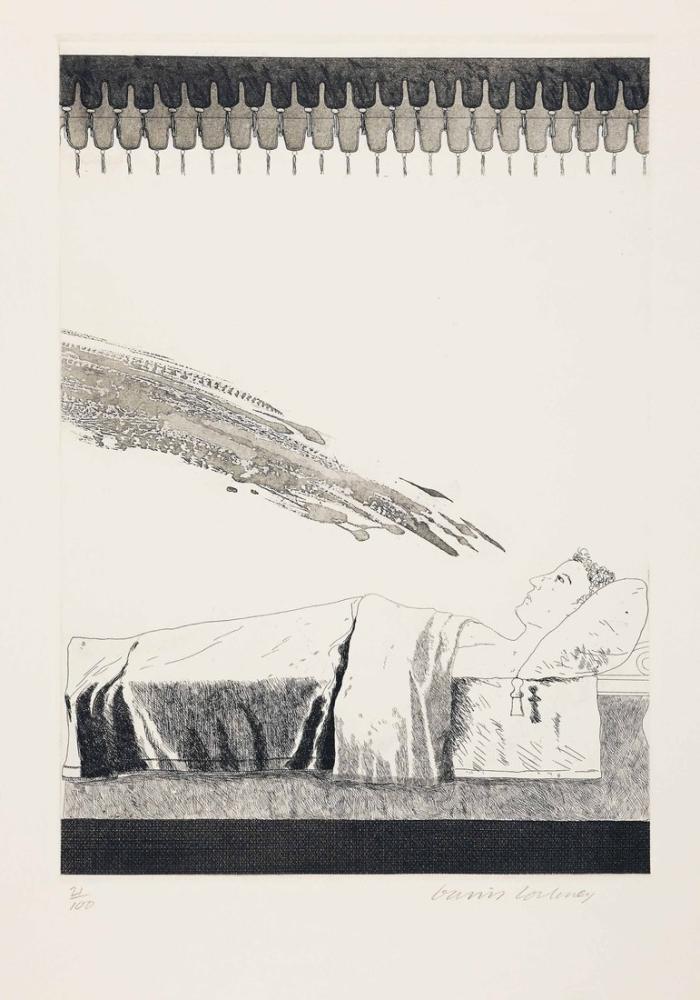 David Hockney, Soğuk Su Çarpmak Üzere, Figür, David Hockney