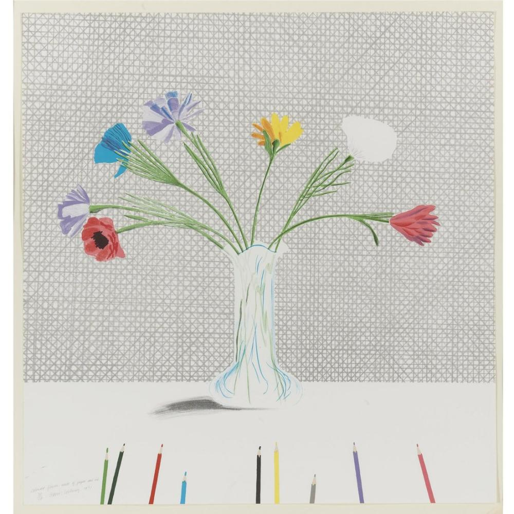 David Hockney, Renkli Çiçekler, Kanvas Tablo, David Hockney
