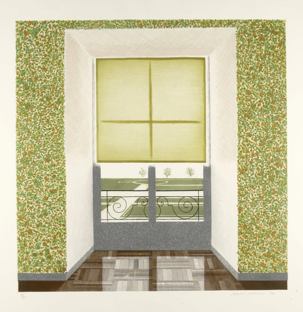 David Hockney, Fransız Tarzında Contrejour, Kanvas Tablo, David Hockney