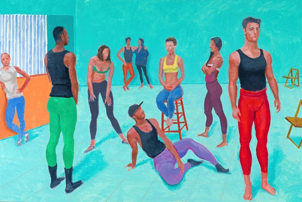 David Hockney, Dansçı Grubu XI, Figür, David Hockney