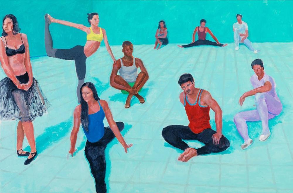 David Hockney, Dansçılar 1, Figür, David Hockney