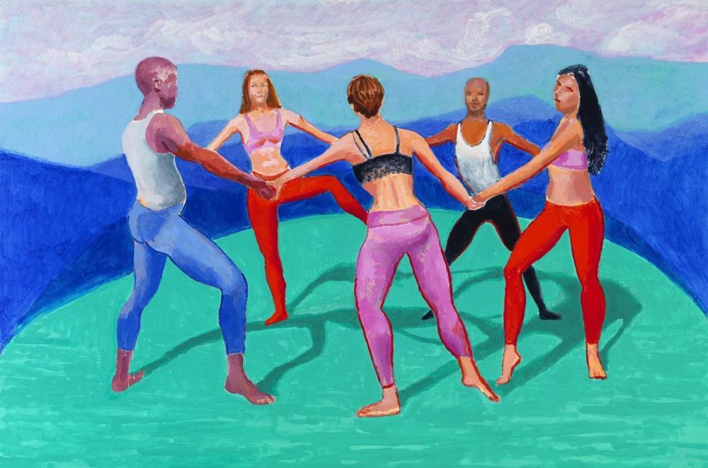 David Hockney, Dansçılar 2, Figür, David Hockney