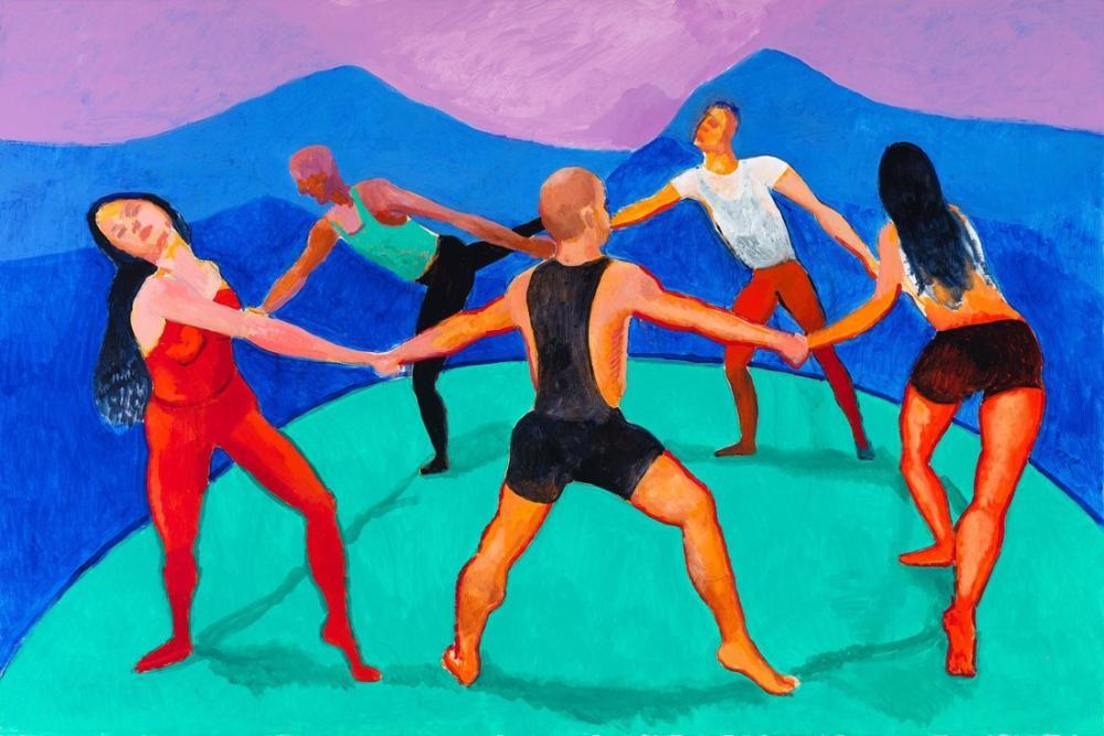 David Hockney, Dansçılar 3, Figür, David Hockney