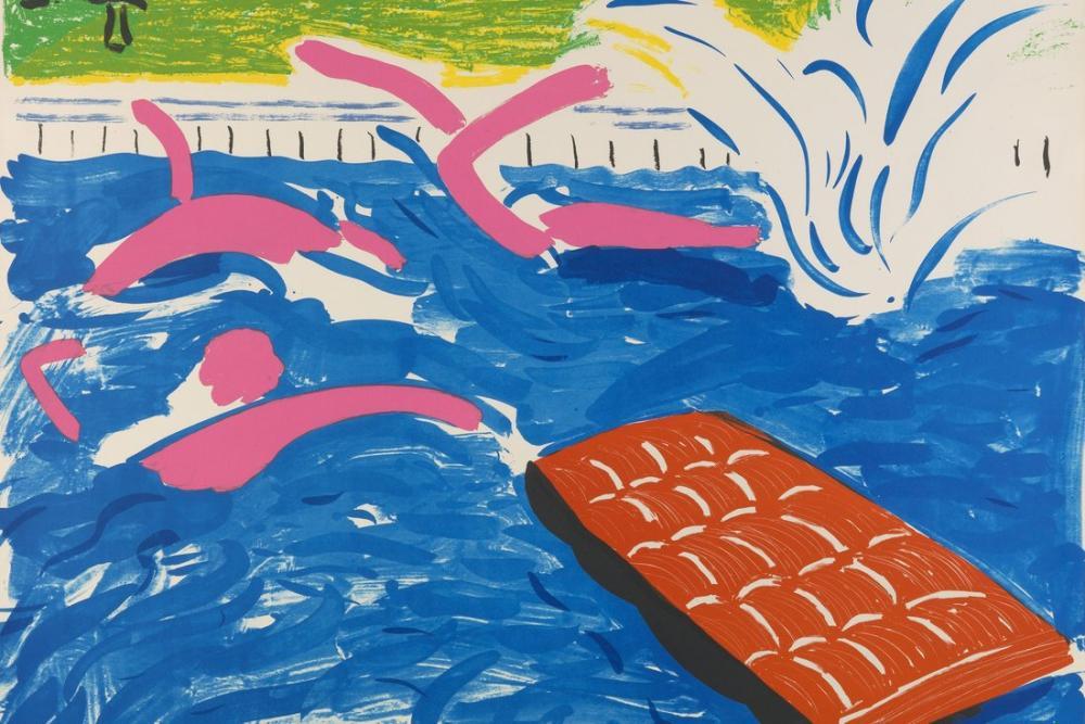 David Hockney, Öğleden Sonra Yüzme, Figür, David Hockney