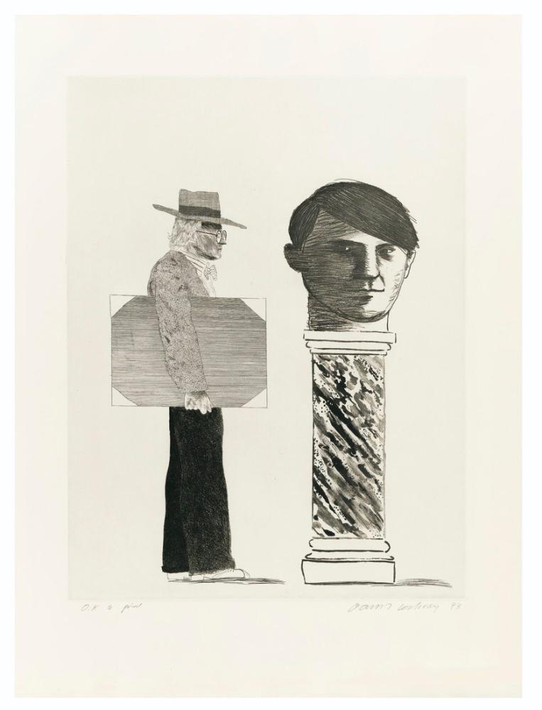 David Hockney, Picasso'ya Saygı, Figür, David Hockney