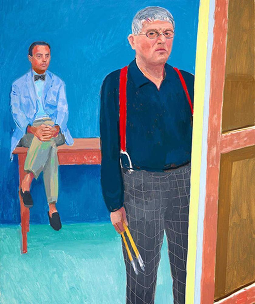 David Hockney, David Hockney Resimleri, Figür, David Hockney, kanvas tablo, canvas print sales
