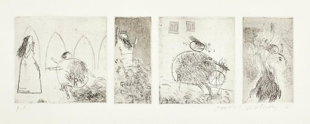 David Hockney, Rumpelstiltskin İçin Eğitim, Figür, David Hockney