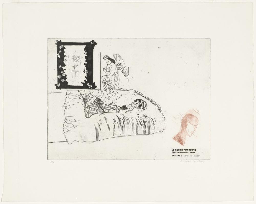 David Hockney, Harlem de Ölüm, Figür, David Hockney, kanvas tablo, canvas print sales