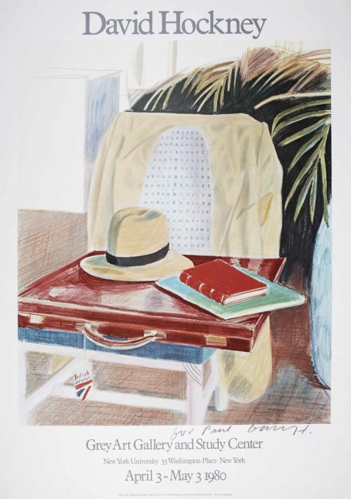 David Hockney, Natürmort, Taj Otel, Bombay, Kanvas Tablo, David Hockney
