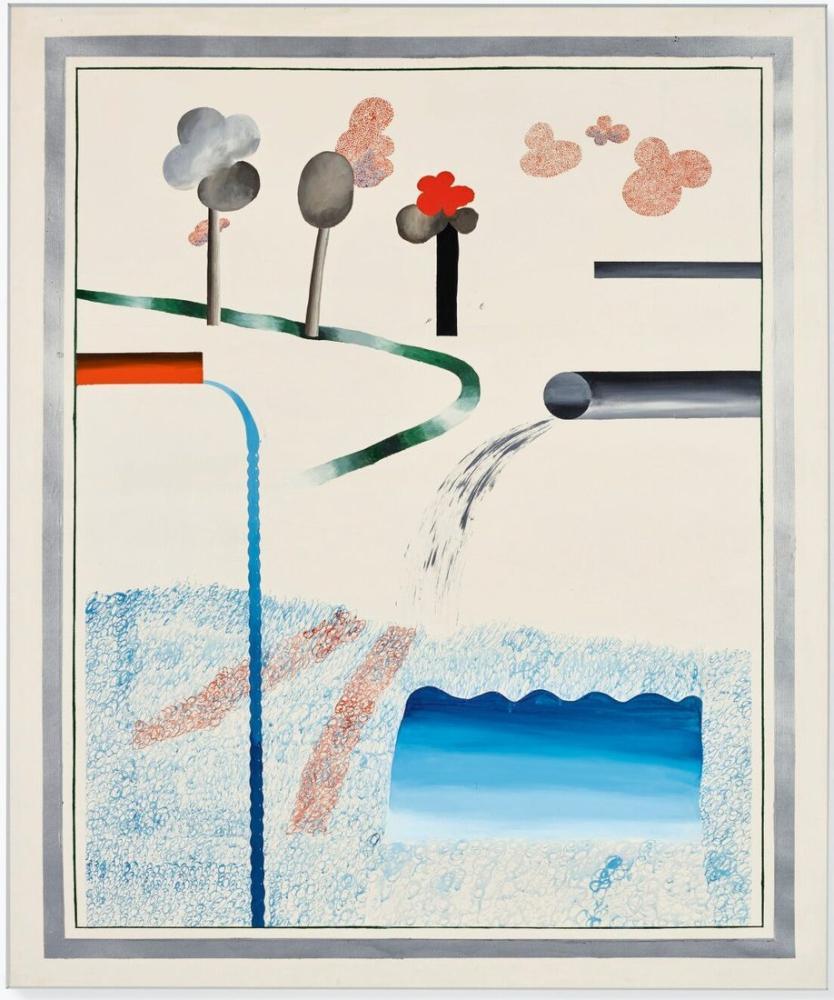 David Hockney, Yüzme Havuzuna Dökülen Farklı Su Türleri, Kanvas Tablo, David Hockney