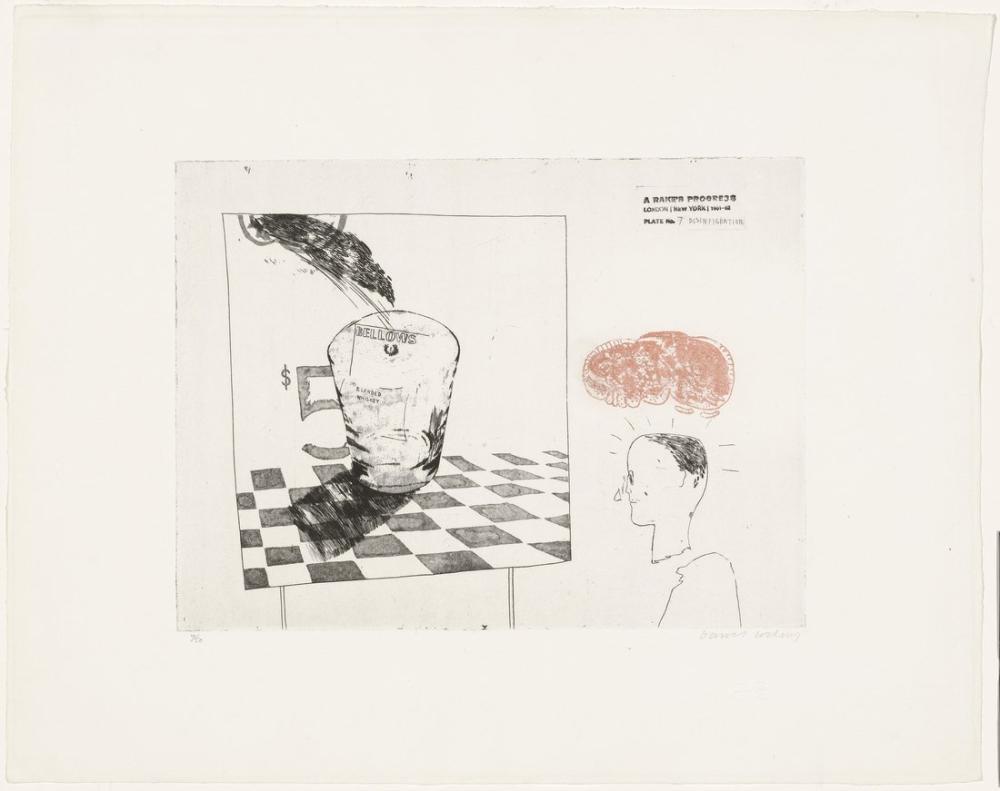 David Hockney, Parçalanma, Figür, David Hockney