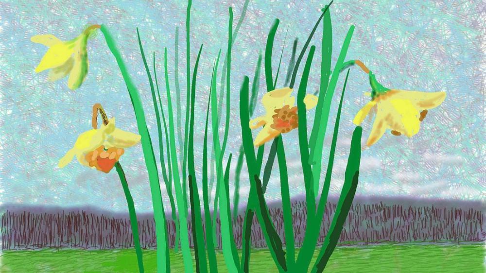 David Hockney, Baharı İptal Edemeyeceklerini Hatırla, Kanvas Tablo, David Hockney