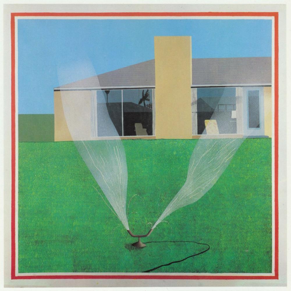 David Hockney, Bir Çim Fıskiyesi, Kanvas Tablo, David Hockney