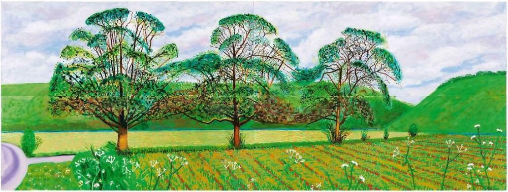 David Hockney, Doğu Yorkshire, Kanvas Tablo, David Hockney