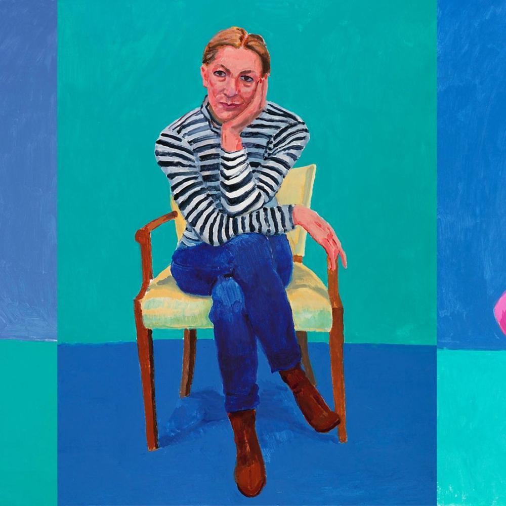 David Hockney, Edith Devaney, Figür, David Hockney
