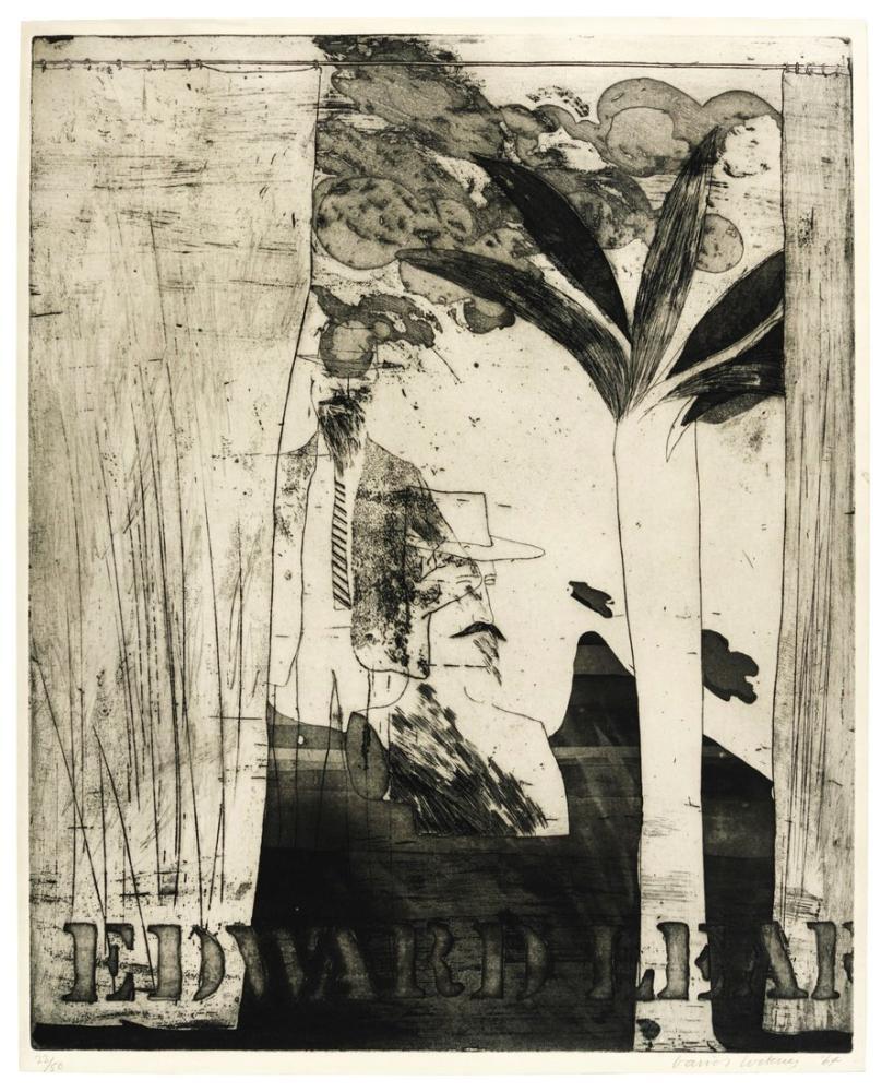 David Hockney, Edward Lear, Figure, David Hockney, kanvas tablo, canvas print sales