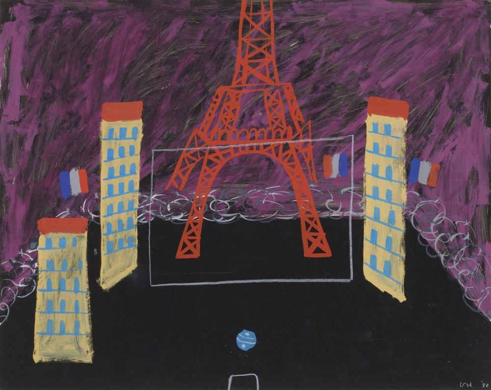 David Hockney, Eiffel Tower, Boulevard and Ball, Figure, David Hockney, kanvas tablo, canvas print sales