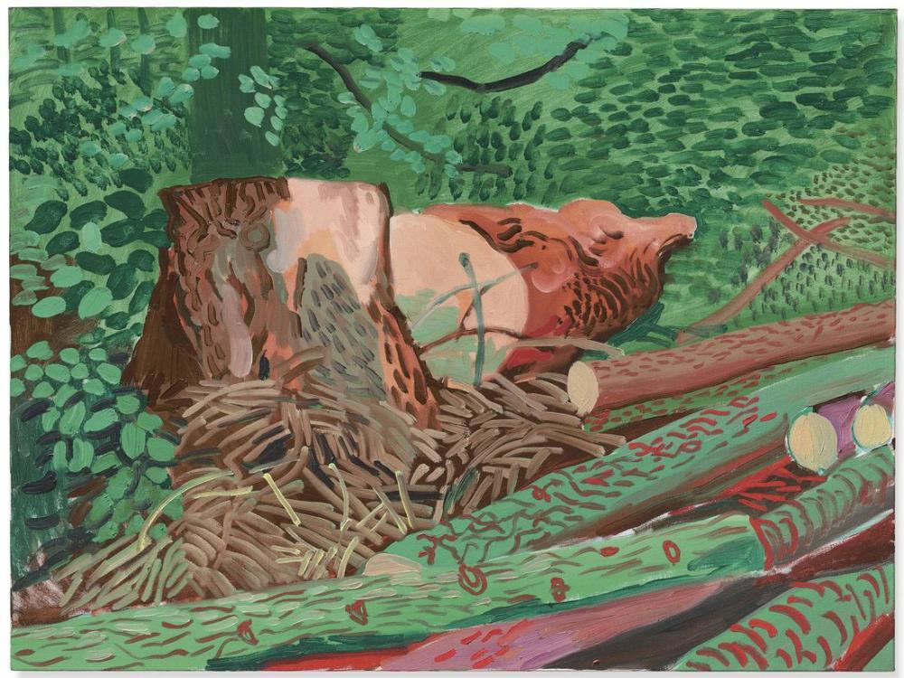 David Hockney, Düştü Totem, Kanvas Tablo, David Hockney