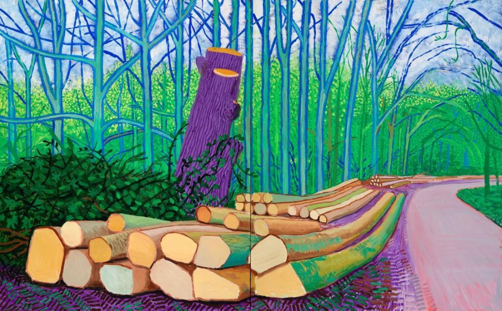David Hockney, Woldgate'de Kesilen Ağaçlar, Kanvas Tablo, David Hockney