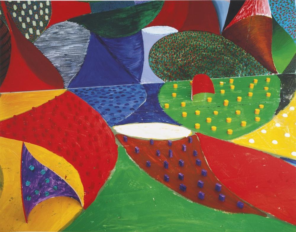 David Hockney, Beşinci Detay, Salyangoz Uzay, Kanvas Tablo, David Hockney