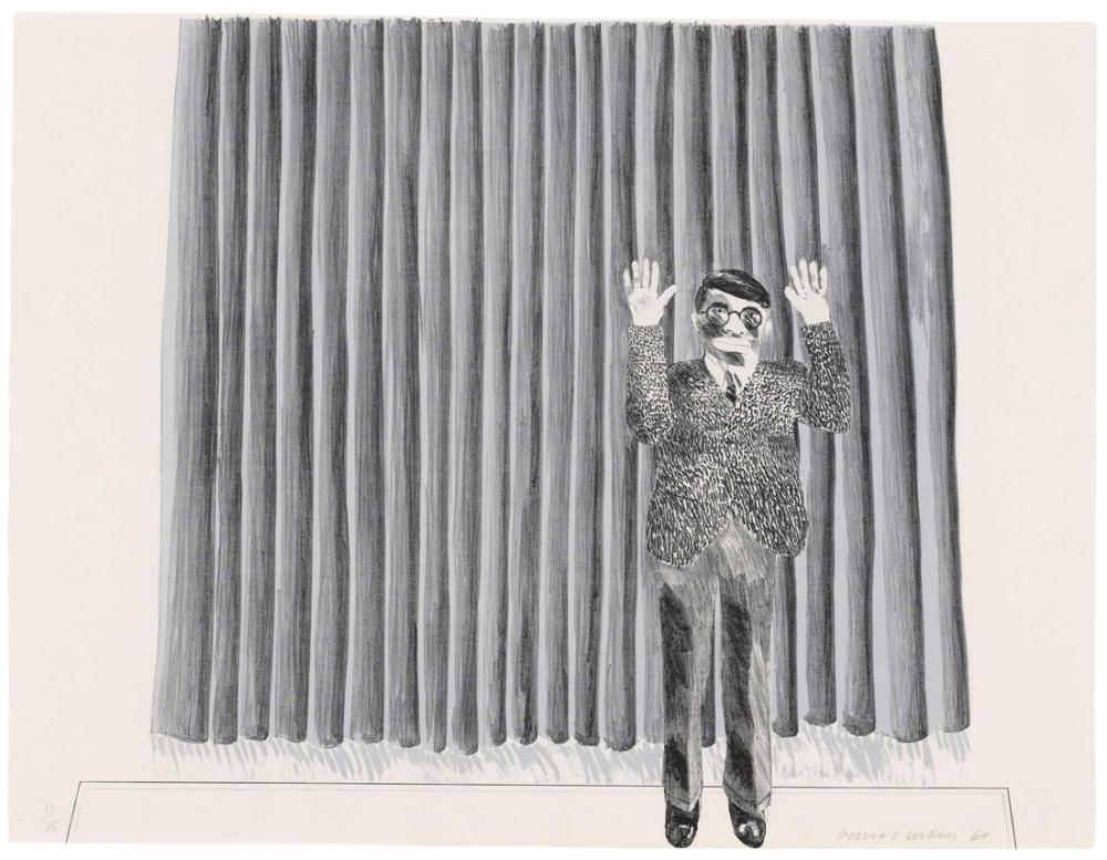 David Hockney, Perdeli Figür, Figür, David Hockney