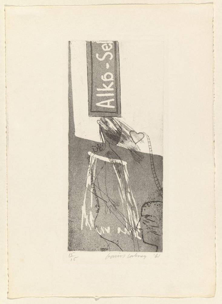 David Hockney, Alka Seltzer 1961, Figür, David Hockney, kanvas tablo, canvas print sales