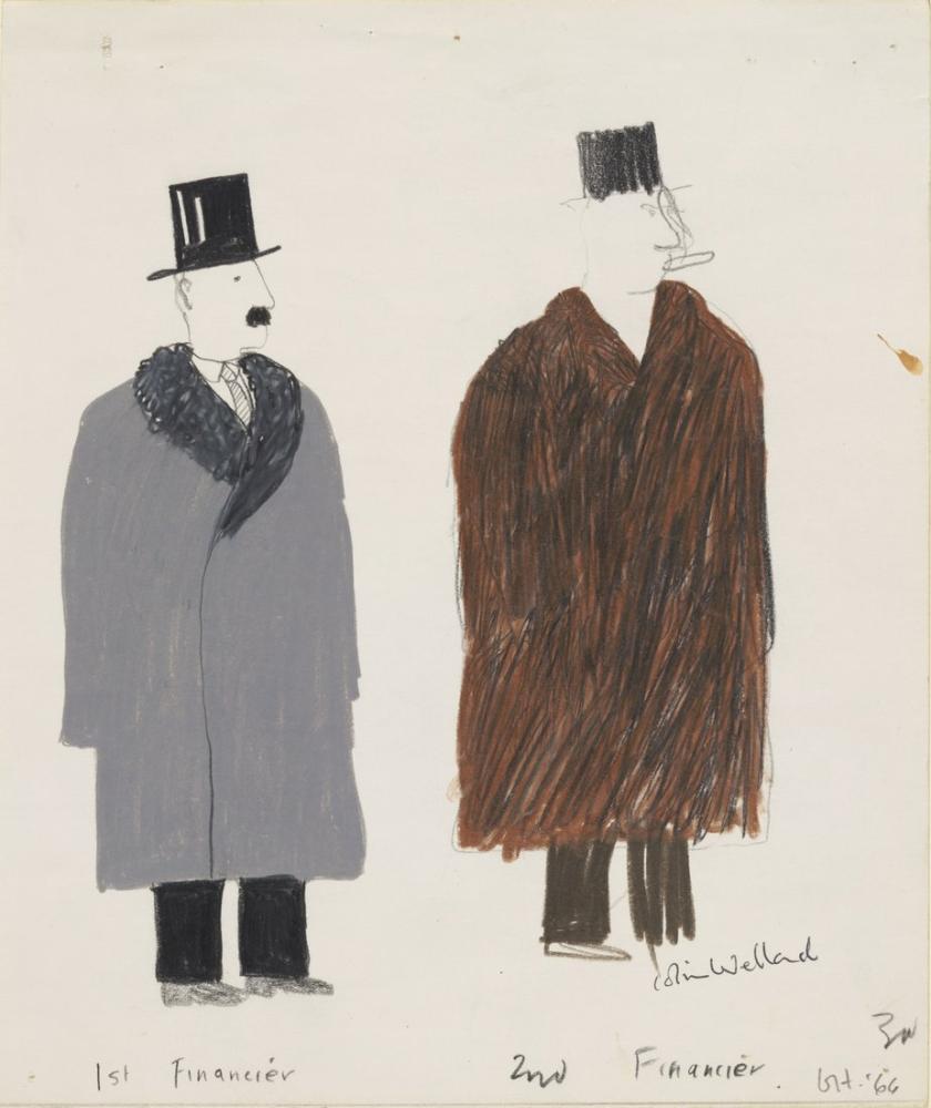 David Hockney, First Financier Second Financier, Figure, David Hockney, kanvas tablo, canvas print sales