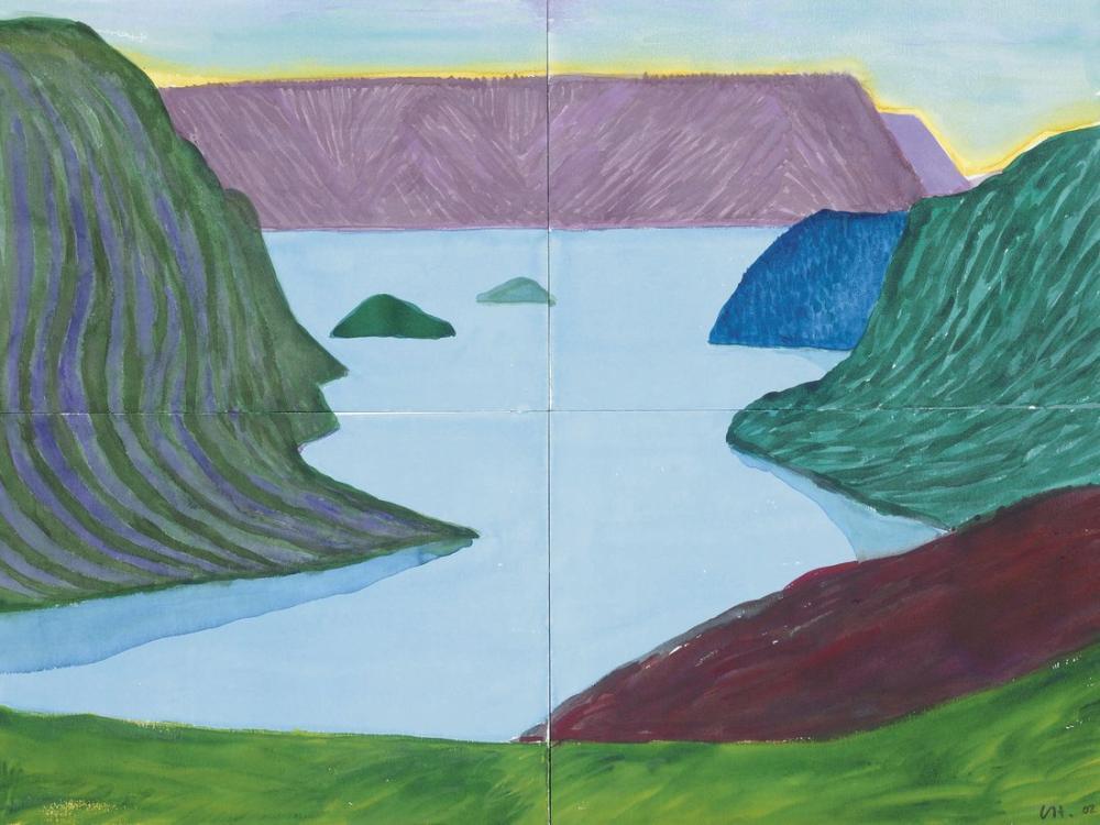 David Hockney, Fjord, Kamoyvaer, Kanvas Tablo, David Hockney
