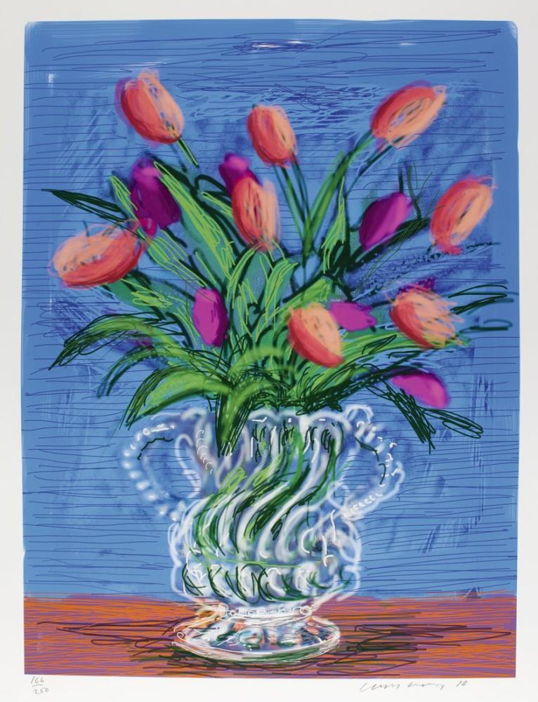 David Hockney, Çiçekler, Kanvas Tablo, David Hockney
