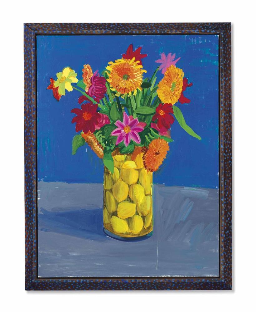 David Hockney, Hediye Olarak Gönderilen Çiçekler, Kanvas Tablo, David Hockney