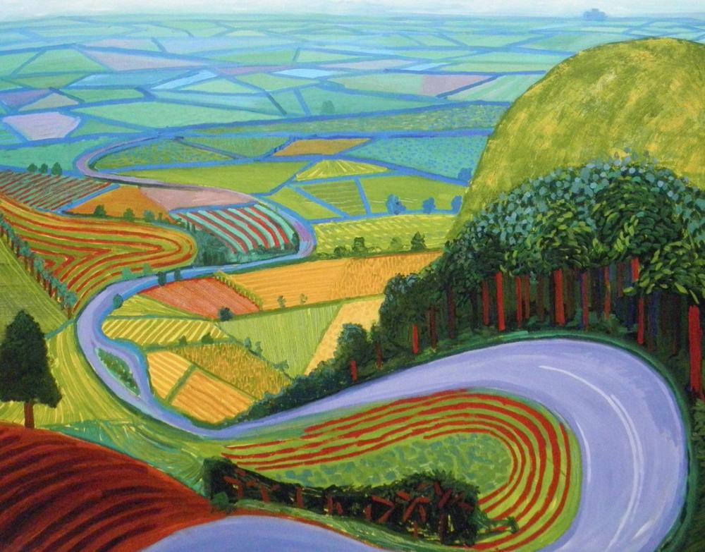 David Hockney, Garrowby Tepesi, Kanvas Tablo, David Hockney
