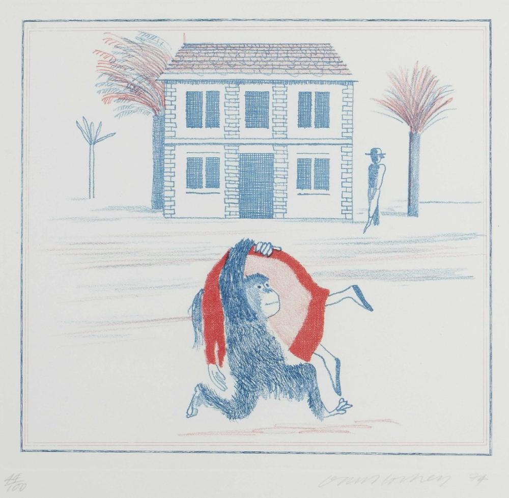 David Hockney, Coğrafya Kitabı, Figür, David Hockney