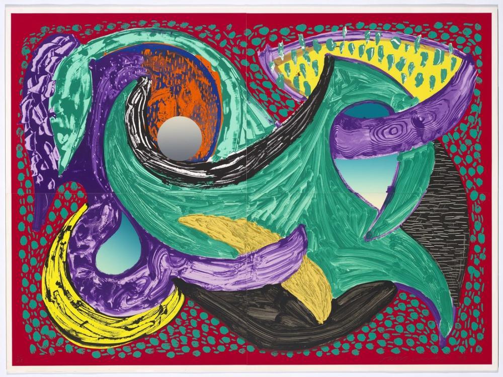 David Hockney, Etrafından Gitmek 1994, Kanvas Tablo, David Hockney