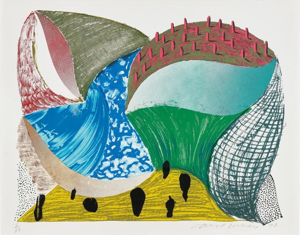 David Hockney, Gorge d'Incre, Bazı Yeni Baskılardan, Kanvas Tablo, David Hockney