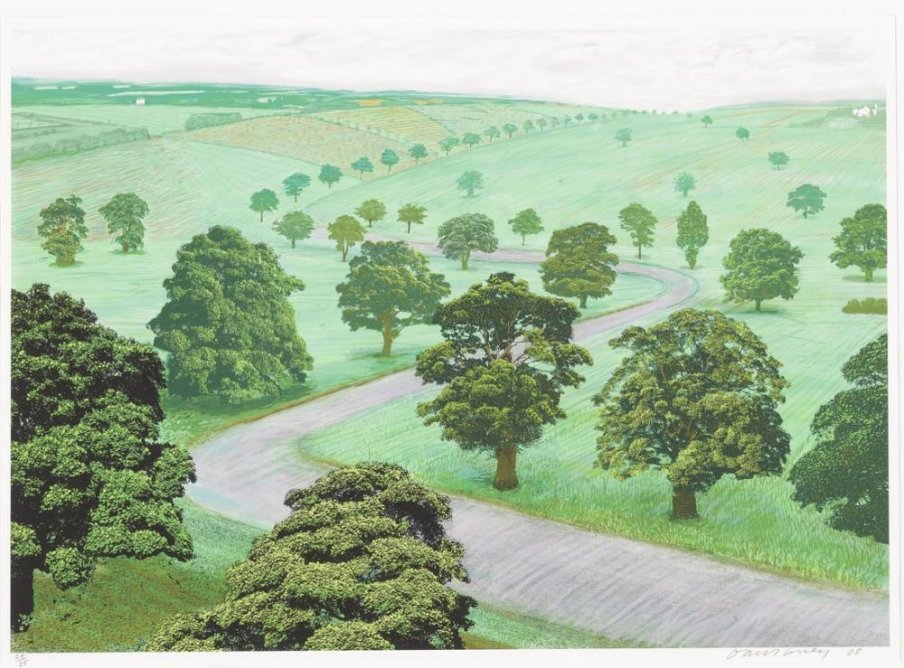 David Hockney, Yeşil Vadi, Kanvas Tablo, David Hockney