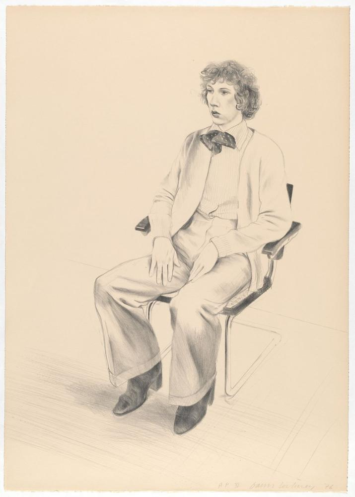 David Hockney, Gregory Evans 1976, Figür, David Hockney