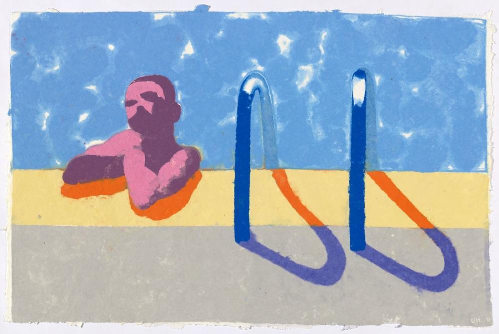 David Hockney, Havuzdaki Gregory, Figür, David Hockney