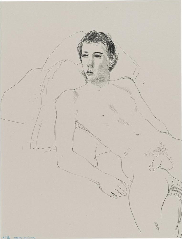 David Hockney, Gregory Reclining, Figure, David Hockney, kanvas tablo, canvas print sales