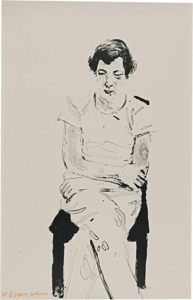 David Hockney, Gregory Henry'yi Düşünüyor, Figür, David Hockney