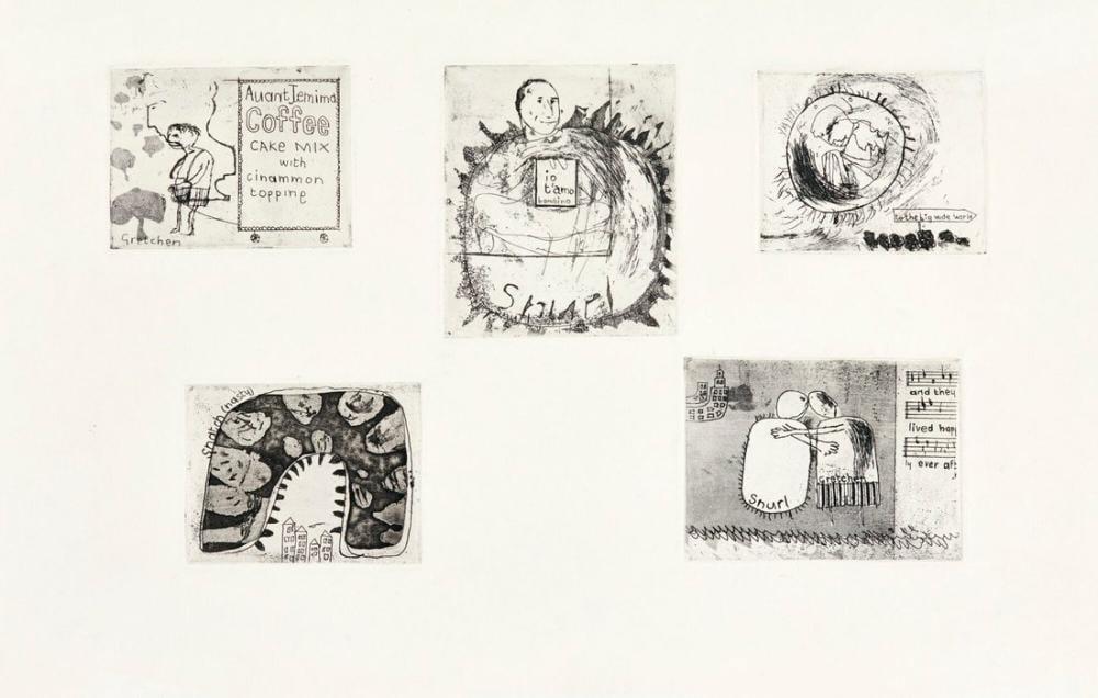 David Hockney, Gretchen ve Snurl, Figür, David Hockney
